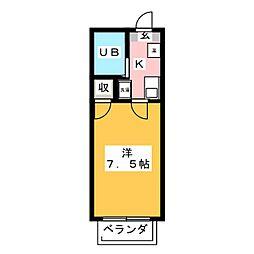 メゾンド・エンボワールIII[2階]の間取り