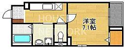 フラット黒門[303号室号室]の間取り