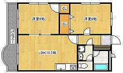 セントマリアガーデンヒルズ[4階]の間取り