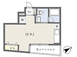 COZY有松 2階ワンルームの間取り