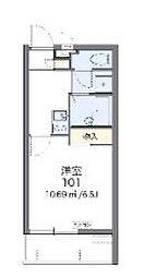 沖縄都市モノレール 浦添前田駅 4.4kmの賃貸マンション 1階1Kの間取り