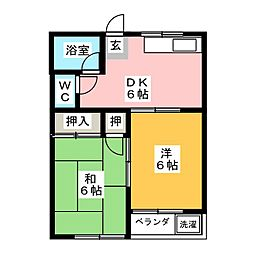コーポ山田[2階]の間取り