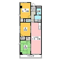インペリアル鍵屋ノ辻[2階]の間取り