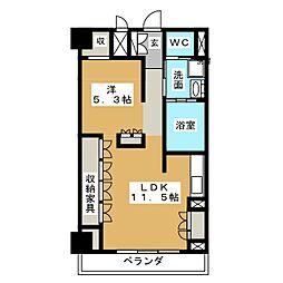 ロイヤルオーク栄セントラルプラザ[4階]の間取り
