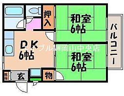 シティハイツ京山[1階]の間取り