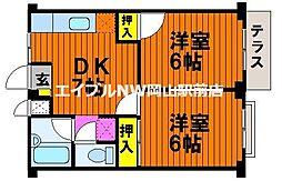 エルディム斉藤[1階]の間取り