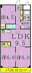 第3千代田マンション[6階]の間取り