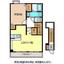 シャルマン櫻街[2階]の間取り