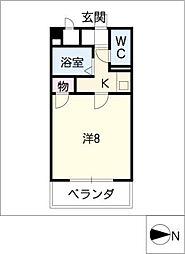 ジュネス東桜[4階]の間取り