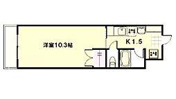 広島高速交通アストラムライン 大塚駅 徒歩17分の賃貸マンション 1階1Kの間取り