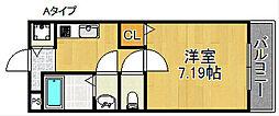 フィオーレ市場東[2階]の間取り