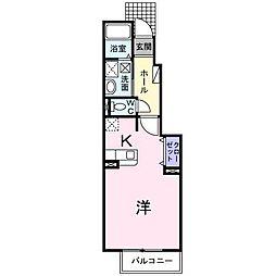 静岡県富士市鮫島の賃貸アパートの間取り