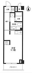 JR横須賀線 新川崎駅 徒歩5分の賃貸マンション 2階ワンルームの間取り