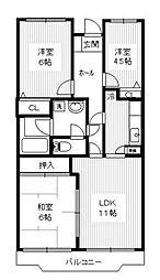第十パールメゾン蒲田[1階]の間取り