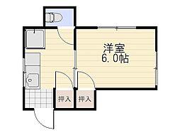 中村ビル[203号室]の間取り