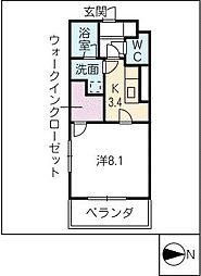 オランジュ シャン[3階]の間取り
