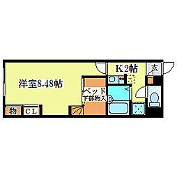 レオパレスメイフラワー清田[2階]の間取り