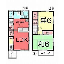 [テラスハウス] 埼玉県さいたま市北区宮原町2丁目 の賃貸【/】の間取り