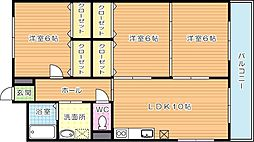リシェス有田[1階]の間取り