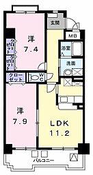 アネックス稲永駅前[0311号室]の間取り