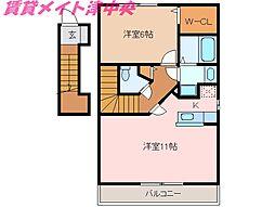 三重県津市半田の賃貸アパートの間取り