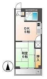 クレストYS千代田[4階]の間取り