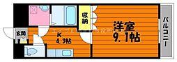岡山県総社市中原丁目なしの賃貸アパートの間取り