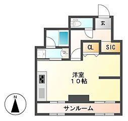チサンマンション栄[11階]の間取り
