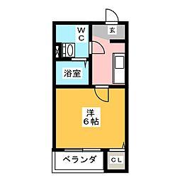 アンフィニ・コート黒川[2階]の間取り
