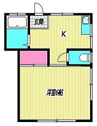 東京都杉並区成田東5丁目の賃貸アパートの間取り