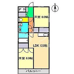 高須ハイツ[5階]の間取り