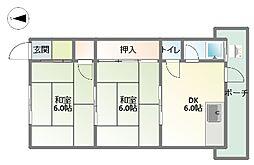 第3大和荘[1階]の間取り