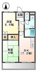 鈴の木ハイツB[1階]の間取り