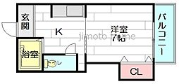 東栄物産ビル17[7階]の間取り