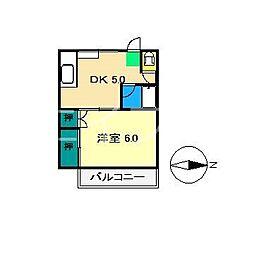 弘田マンション(桟橋)[2階]の間取り