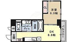 JR東海道・山陽本線 桂川駅 徒歩25分の賃貸マンション 3階1DKの間取り