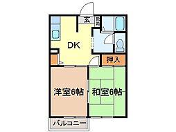静岡県富士市境の賃貸アパートの間取り