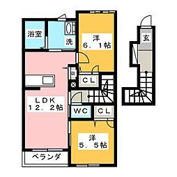 ROYAL YORK IV B棟[2階]の間取り