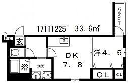 フジパレスアベリア[3階]の間取り