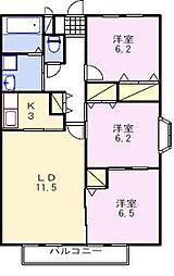 シュメール上屋敷[2階]の間取り