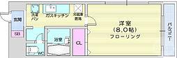 仙台市地下鉄東西線 川内駅 徒歩23分の賃貸マンション 1階1Kの間取り