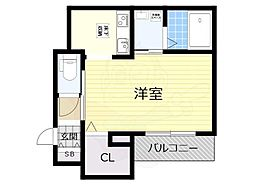 大阪モノレール彩都線 阪大病院前駅 徒歩5分の賃貸アパート 1階1Kの間取り