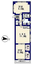 サクラマンション[3階]の間取り