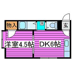 北海道札幌市東区北四十条東12丁目の賃貸アパートの間取り