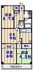 アゼリアマンション[305号室]の間取り