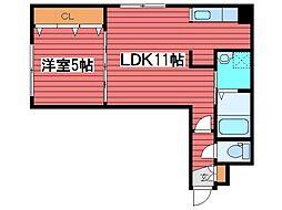 ヴィンテージ[2階]の間取り