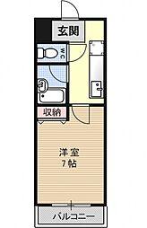 エクシード円町[201号室号室]の間取り