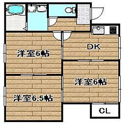 津之江ハウス[2階]の間取り