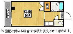 福岡県北九州市八幡西区折尾4丁目の賃貸マンションの間取り