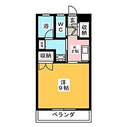 ハイツフレンド広瀬II[2階]の間取り